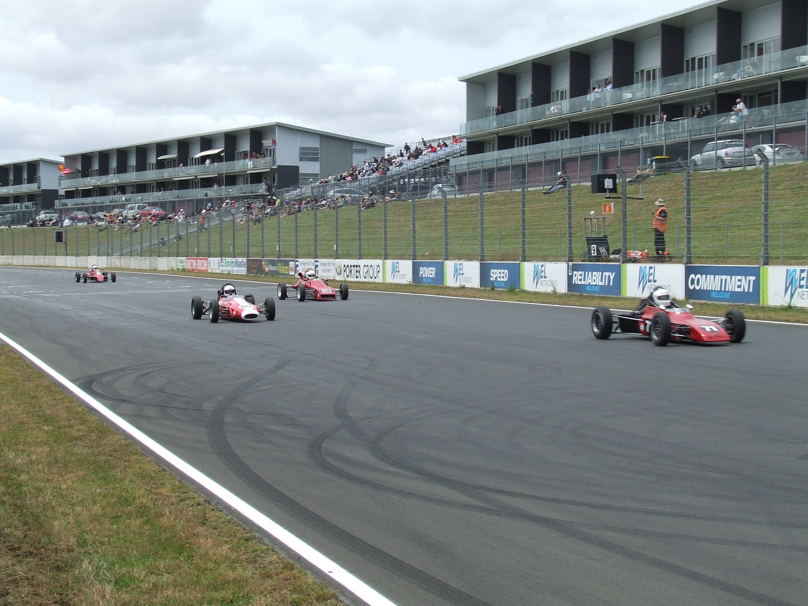 Close racing throughout the field