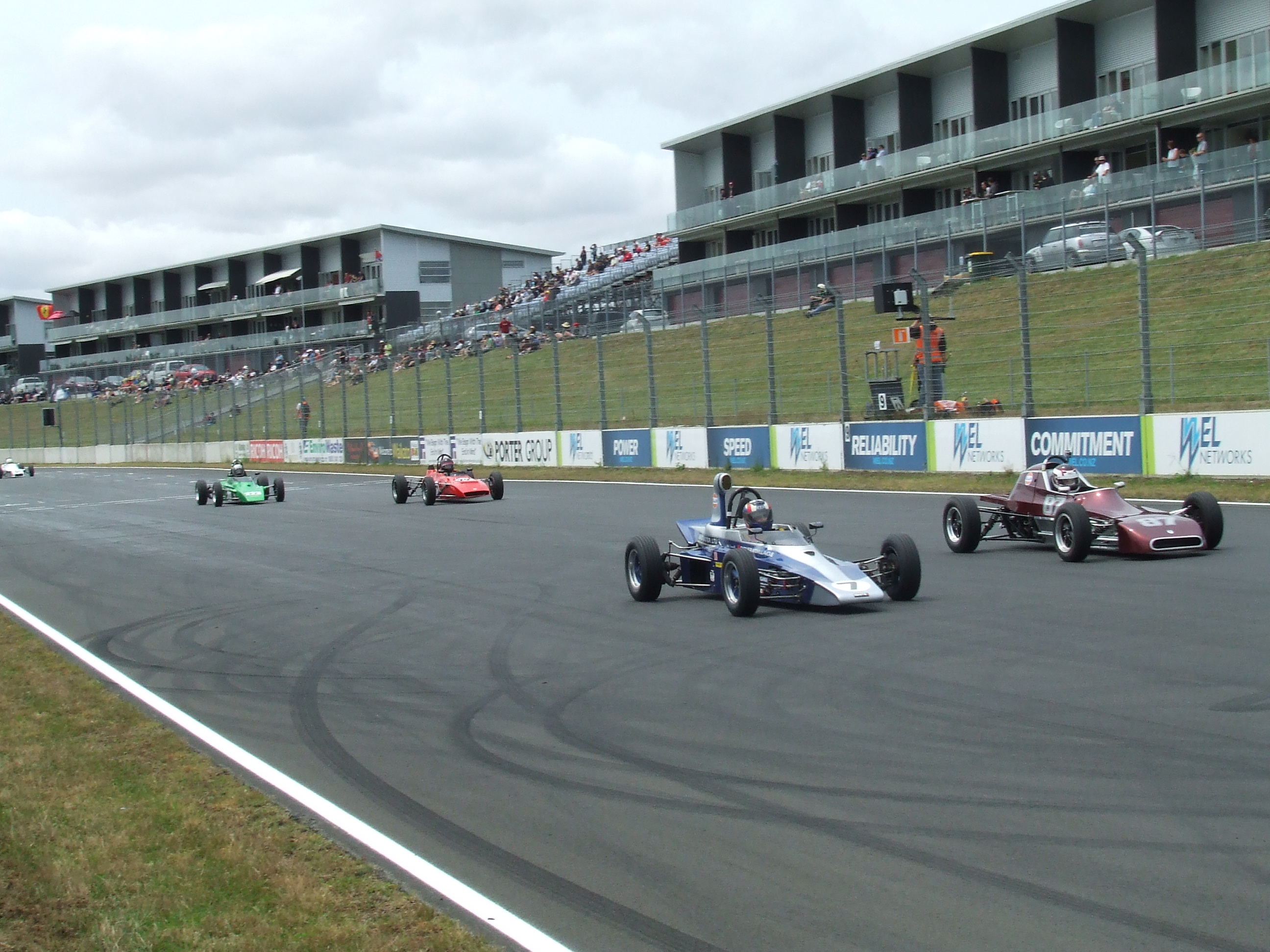 The lads still haven't sorted out who is going to lead into the first corner